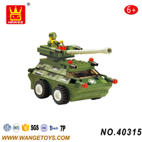 China Supplier Mini Army Plastic Military Panzer Armored Tank Building Block