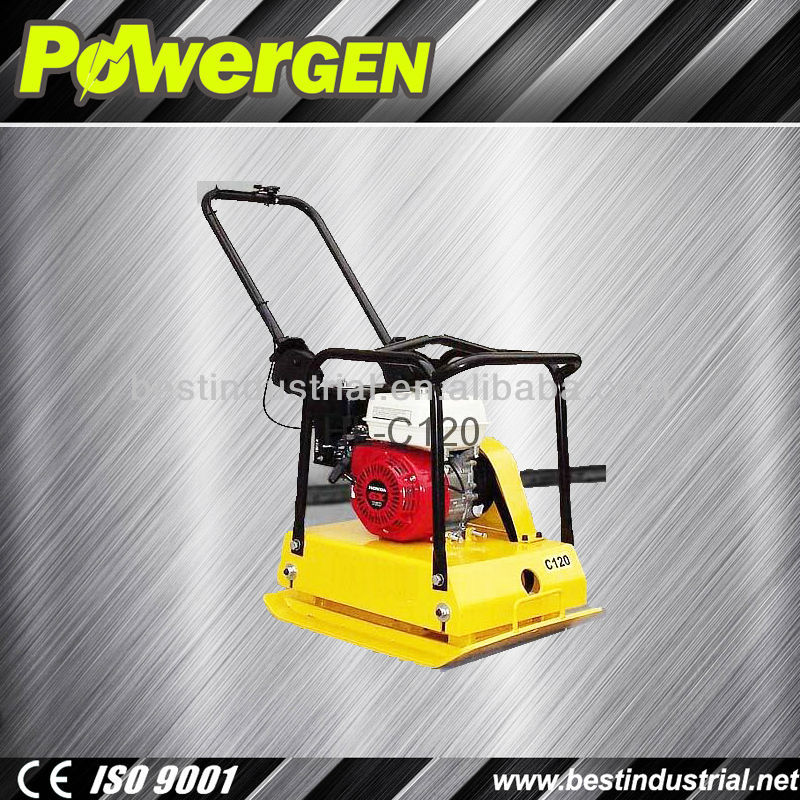 2013 Hot Sales!!!POWER-GEN Honda GX160 5.5hp Powerful electric vibration plate compactor