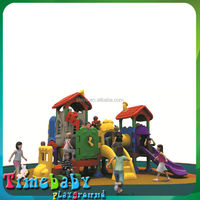 HSZ-HTP5088B Cheap playground outdoor, amusing children play house plastic slides