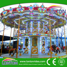 Alibaba fr professional manufacturer offer China entertainment equipment luxury double deck carousel horse rides for sale