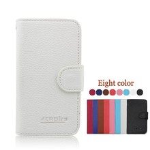Small MOQ New Arrival Leather Flip Wallet Case for Lenovo A850+ Cover
