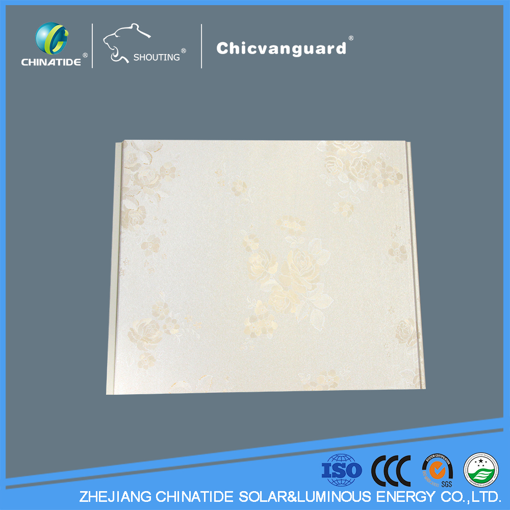 interior decorative hot stamping plain lock pvc ceiling panel&pvc wall panel