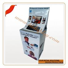 Customize customized cardboard dupm bin battery powered rotating display stand