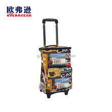 YY-60XC-6 Aluminum Shopping trolley Reuasable collapsilbe Extendable handle trolley with cooler bag