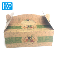Unique design custom corrugated box for grapes food packing wholesale