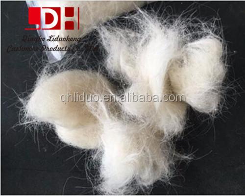 Super white scoured goat hair 50-80mm for felt and carpet
