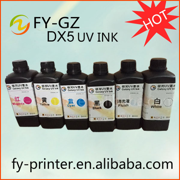 LED UV ink for DX5 / Ricoh / Konica uv inkjet printer ink , can print all material
