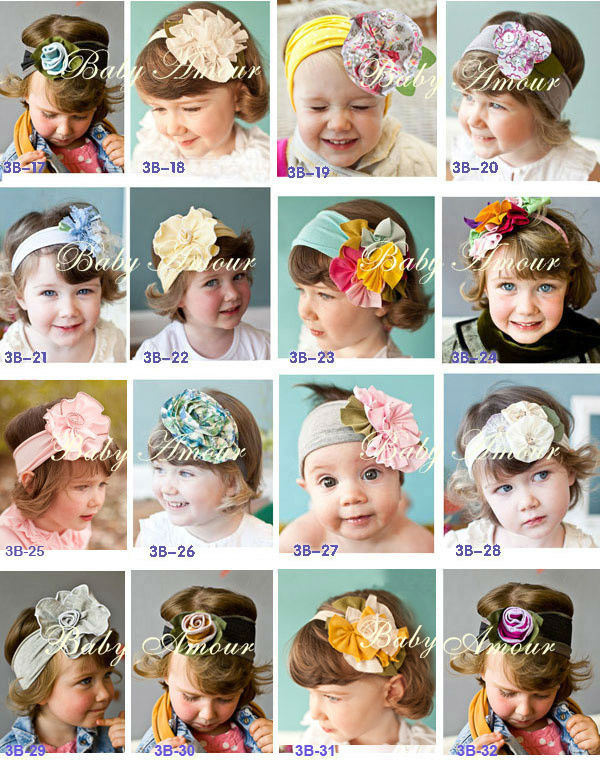 TOP BABY Girls Hair Ornaments Baby Flower Headbands Childrens Hair Accessories