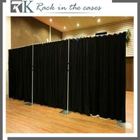 Restaurant Decoration use curtains with free stand Pipe