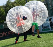 buddy playing inflatable belly bumper ball BB18