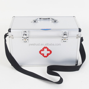 Hot Empty survival Aluminum ABS Medical first aid box case