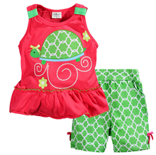 2016 new products Boutique Clothing Baby girls tortoise summer set baby girls outfits