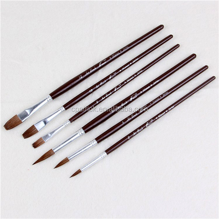 Multifunctional Weasel hair Arting Drawing brushes with long wooden handle