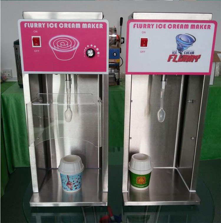 Wholesale Mc Flurry Ice Cream Machine Soft Mcflurry Maker Spoon CE Approved Ice Cream mixer blender for milk shake