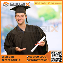 Wholesale Best Quality Specially Worn Adult Black Graduation Gown