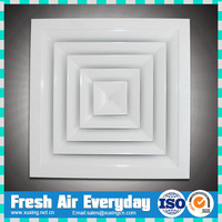 Air conditioning 4 way supply ceiling air diffuser air register
