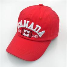 new products canada flag logo sports baseball cap with metal buckle