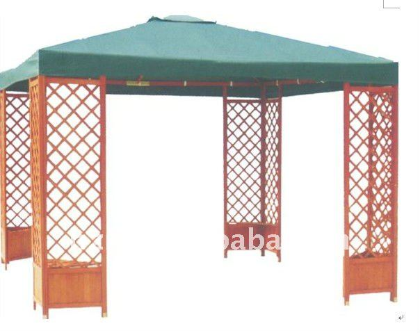 wooden gazebo/pavilion with size 3x3M