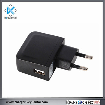 KC certified 5V 1A single usb travel wall charger for smart devices
