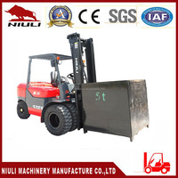 Double Front wheels forklift with Mitsubishi Engine