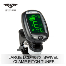 Professional Perfect Small clip-on pitch guitar tuner flat with mic