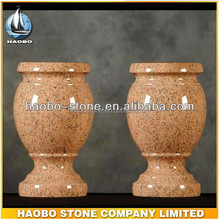 Haobo china wholesale gravestone accessories/granite vases/urns for gravestone for cemetery