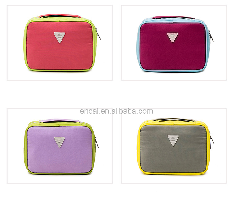 Encai Colorful Travel Cosmetic Bag Waterproof Toiletry Bag Set With Hanger