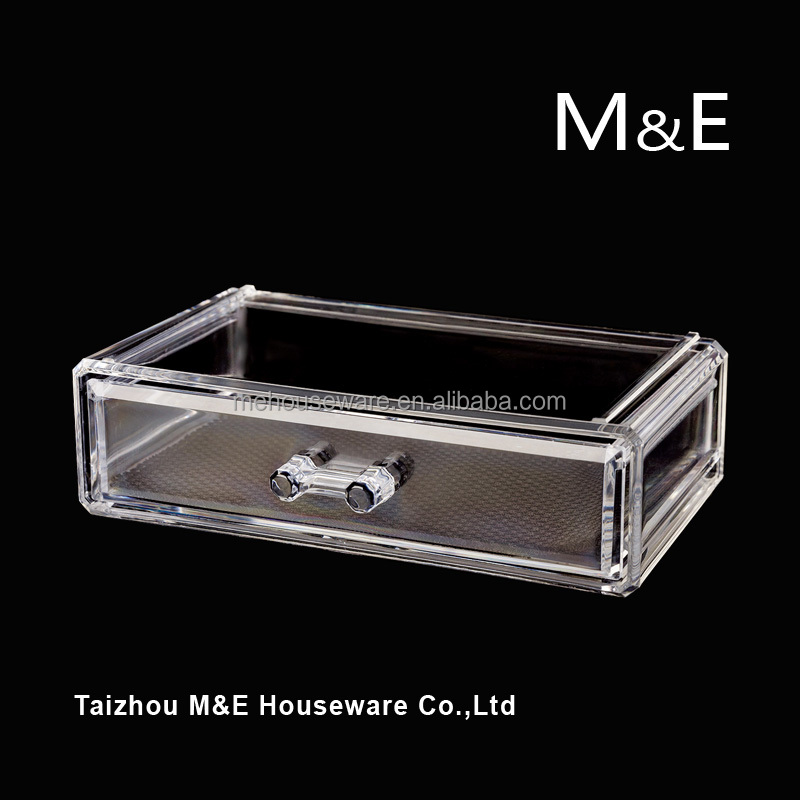 World Top 500 company supplier High Quality Large Acrylic Cosmetics Makeup and Jewelry Storage Display Case