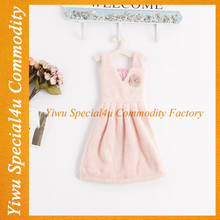 SPRA-203 wholesale cute baby towel coral dress design small towel hand towel