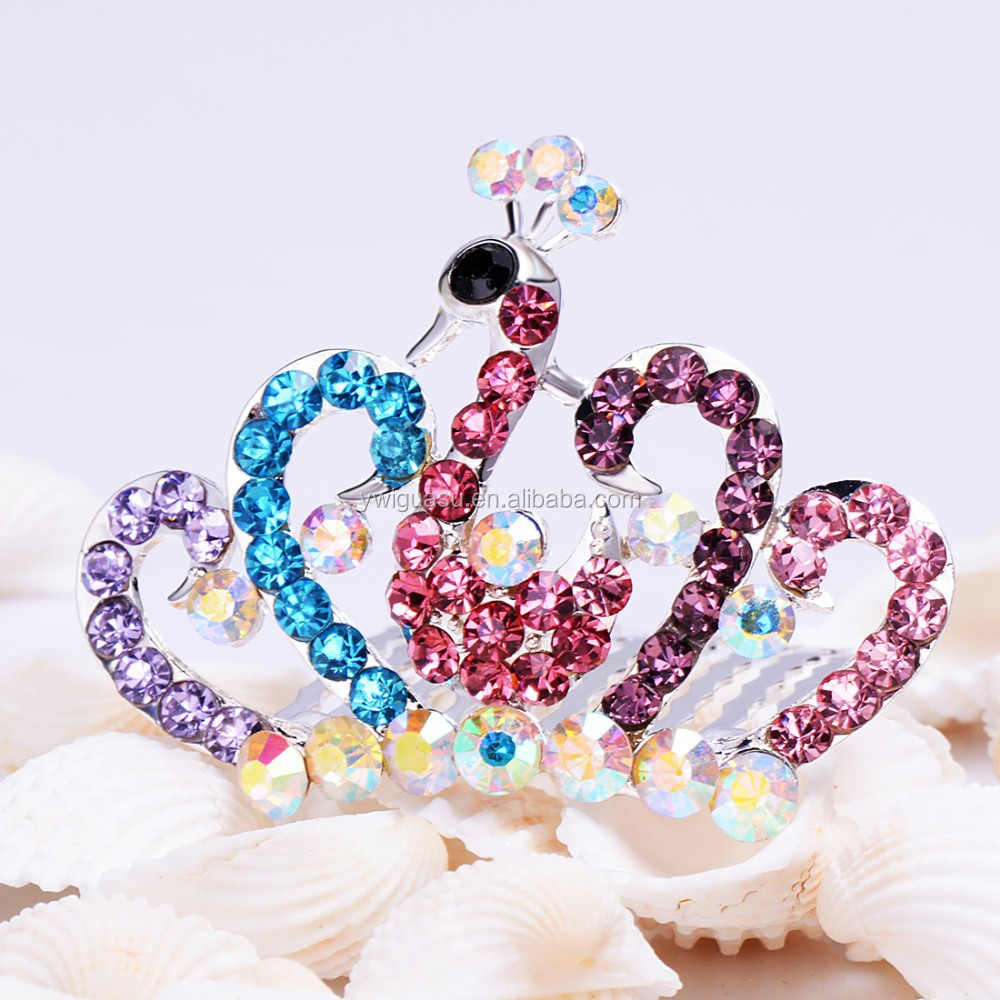 Colombia carnival tiara FZZ-247 international sweaters acrylic display case bride or pageant elsa accessory bulk