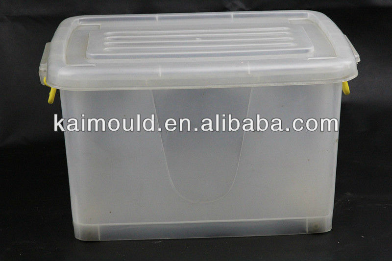 taizhou plastic storage box mould/storage box mold/molding with wheels and lid