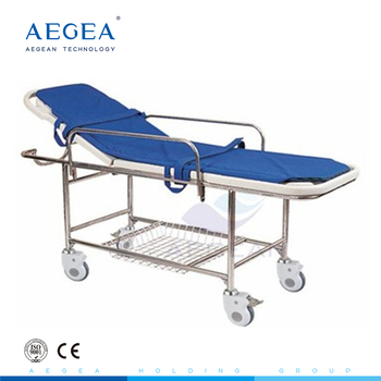 AG-HS013 with stainless steel frame ABS bed platform foam mattress urgent care stretcher