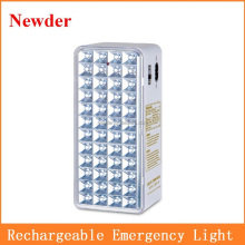 Hand-held rechargeable portable emergency light