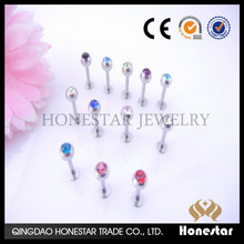Crystal Labret Lip Chin Ring Monroe Bar Tragus Lip Bars Body Piercing Jewelry