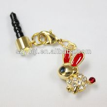 new and cute cell phone dust plug charm