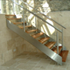 Prefabricated Used Metal Outdoor Stairs with Glass Railing