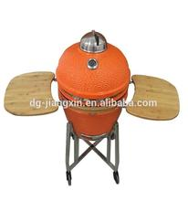 Kamado Charcoal Barbecue Grill and Smoker, Orange Ceramic/Clay Grill