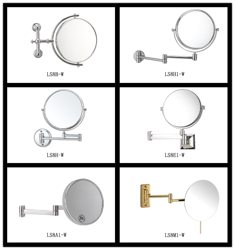 Hot selling wall mount double sides round makeup mirror