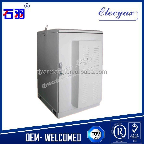 Enclosure with battery compartment/aluminum cabinet for power supply/weather-proof outdoor enclosure SK-65100 with PDU outlet