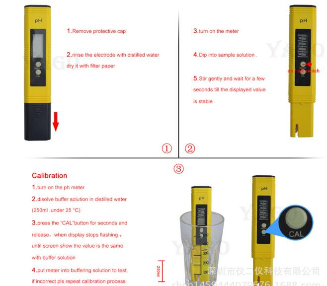 A new portable LCD digital pH meter accuracy test pen 0.01 aquarium swimming pool water automatic calibration