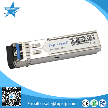 FWLF15197Dxx 1.25 Gb/s 1550nm CWDM 80km optical fibre
