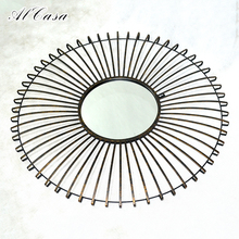 Online wholesale fancy furniture wall hanging mirror for home decoration