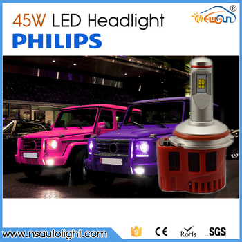 2015 Hotest 9004 9007 45w 4500lm LED Head Light For Cars With Ph ilips LED Chips