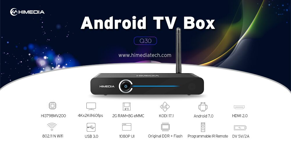 2017 Smart Internet HDR 4K KODI full HD media player Google Android tv streaming box set top box Android TV box