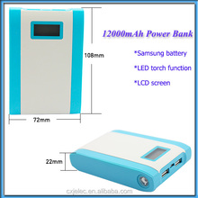 1A input dual usb output hot selling mobile power bank with lcd light and small size