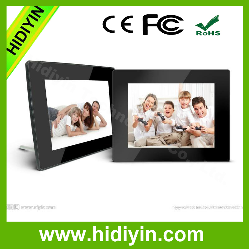 "8""open hot digital picture frame video support 1GB/2GB/4GB/8GB build-in memory factory"