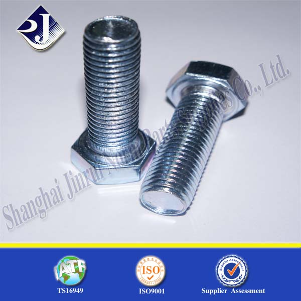 hot sale product Big bolt machine of hex bolt and nut Blue white zinc finished hex bolt