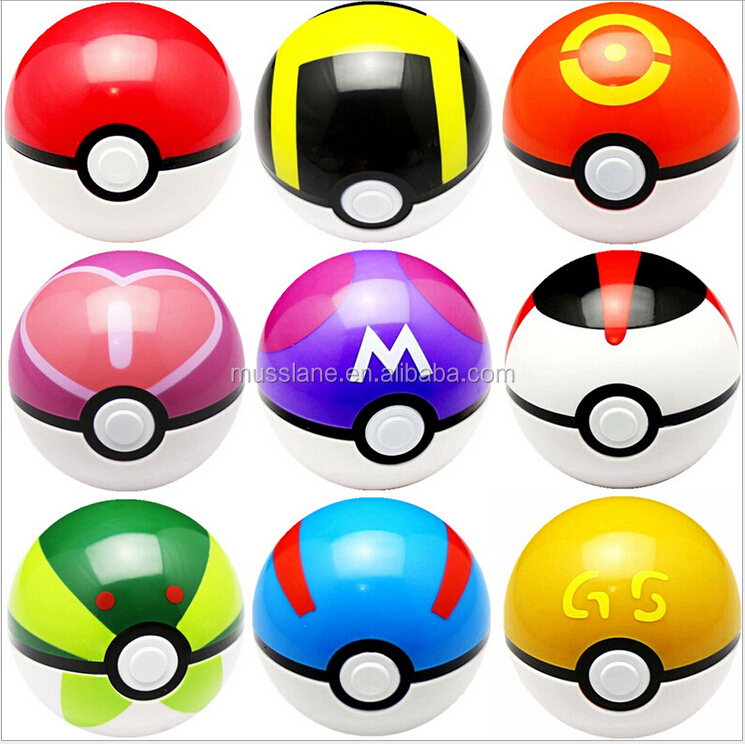 Original Factory Cheapest Price Large In Stock 7 cm Colourful Hot pokemon ball pokeball toys