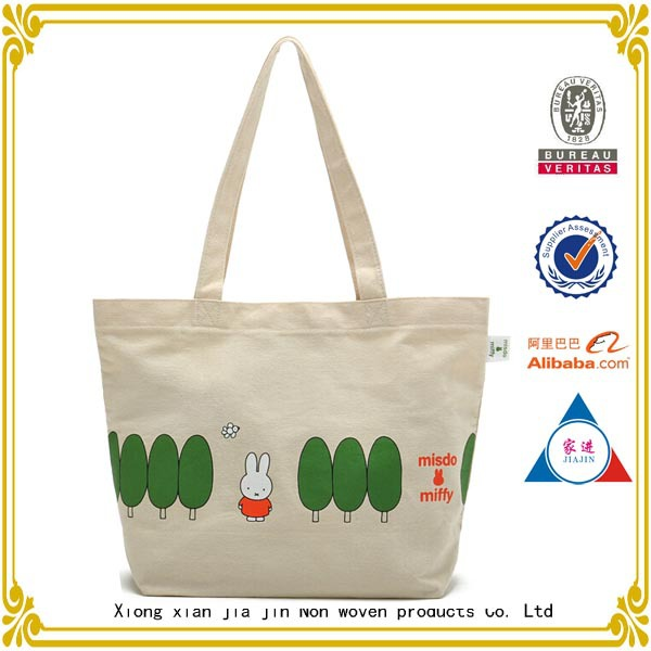 recycled shopping Natural cotton bag/cotton bag with printing logo