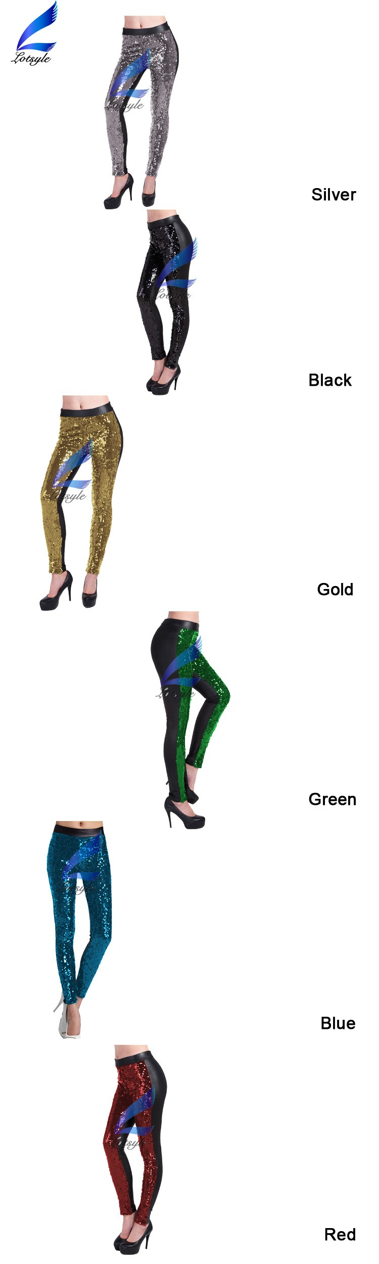 Faux Women Shiny Party Footless Pants Girls Sexy Leggings